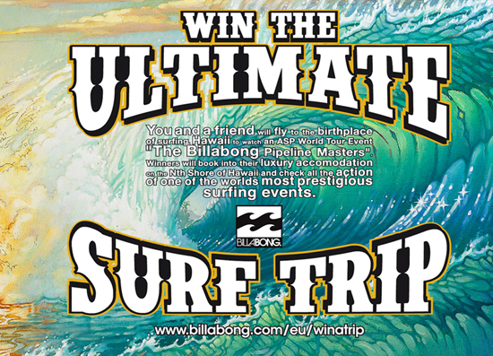 Rogue Mag Surf Billabong - win the trip of a lifetime!