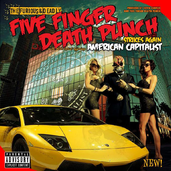 Five Finger Death Punch's new album, American Capitalist, has charted at #3 on the US Billboard Top 200 chart