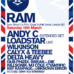 Ram – London Warehouse Party on March 16th